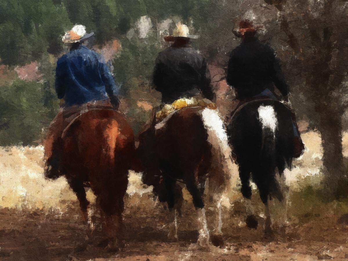 """Cowboys"" - Photoshop Painting"