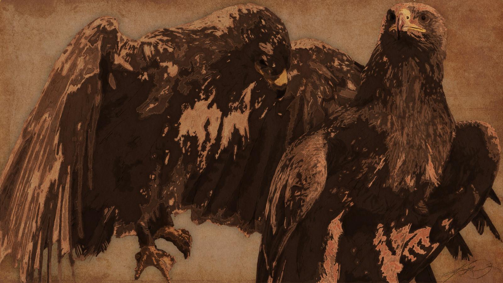 "Bird's Eye"" - Brown Eagle"