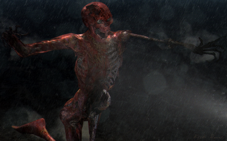 """""""Downpour"""" - Zombie Skeleton"""
